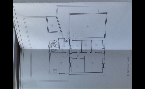 Plan view of house plus adega